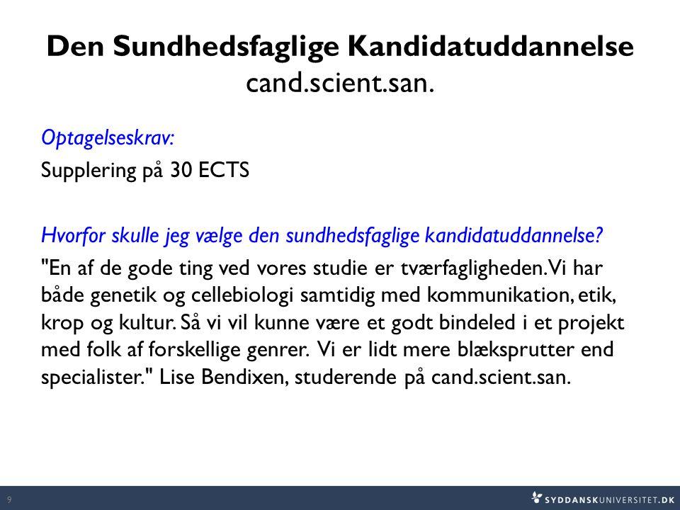 Den Sundhedsfaglige Kandidatuddannelse cand.scient.san.
