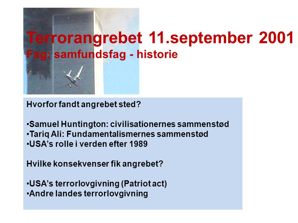 Terrorangrebet 11.september 2001