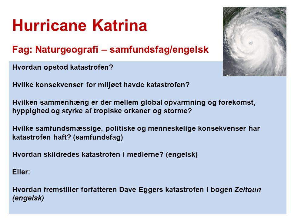 Hurricane Katrina Fag: Naturgeografi – samfundsfag/engelsk