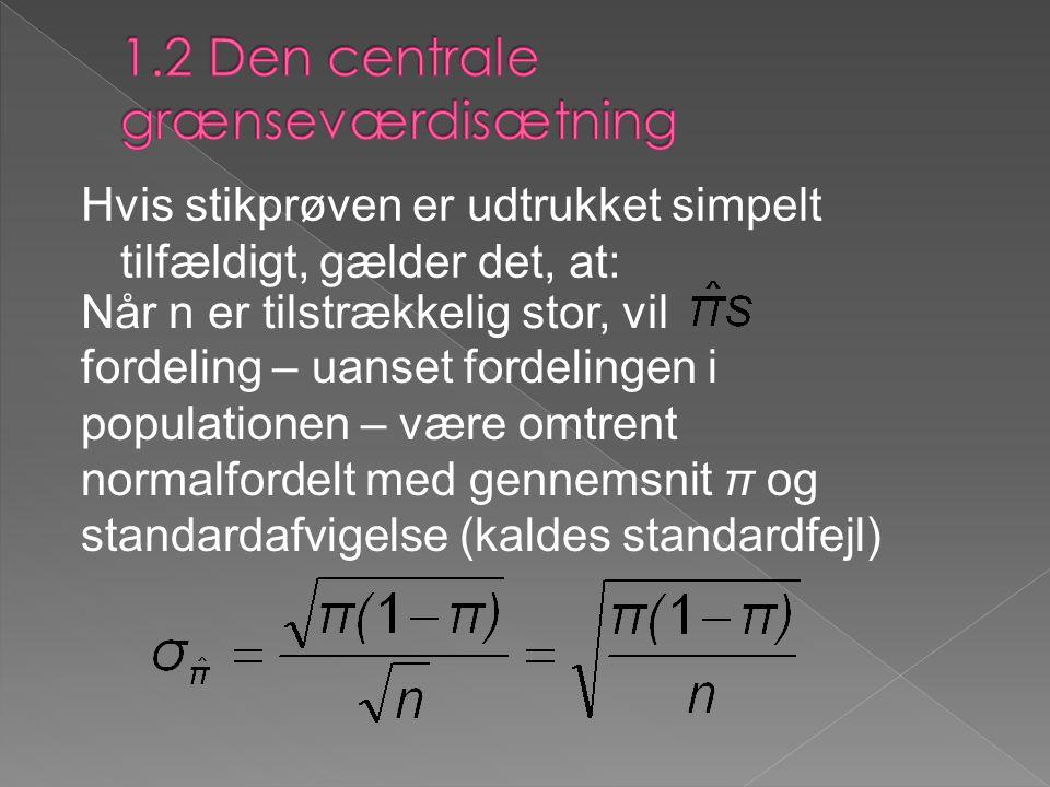 1.2 Den centrale grænseværdisætning