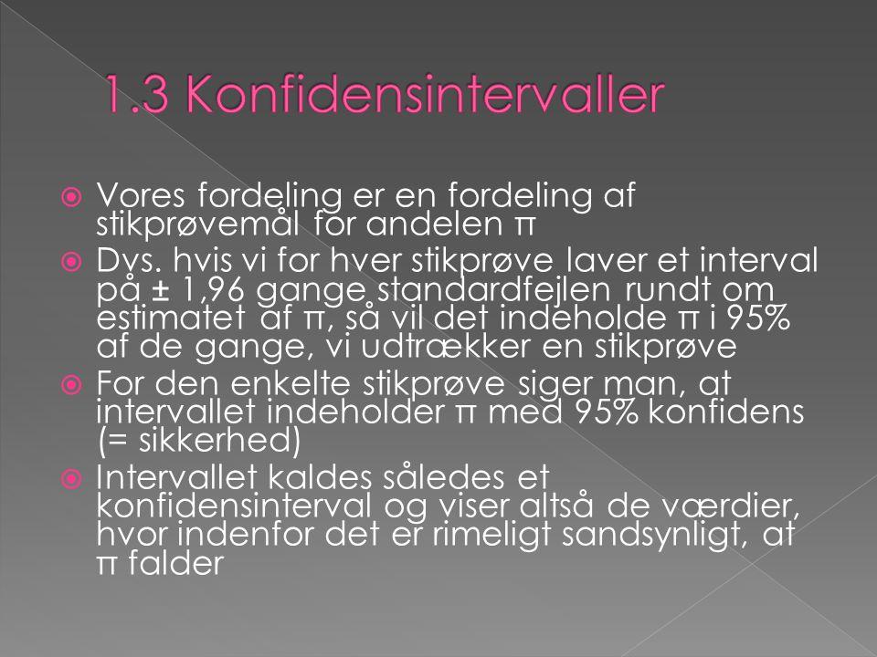 1.3 Konfidensintervaller