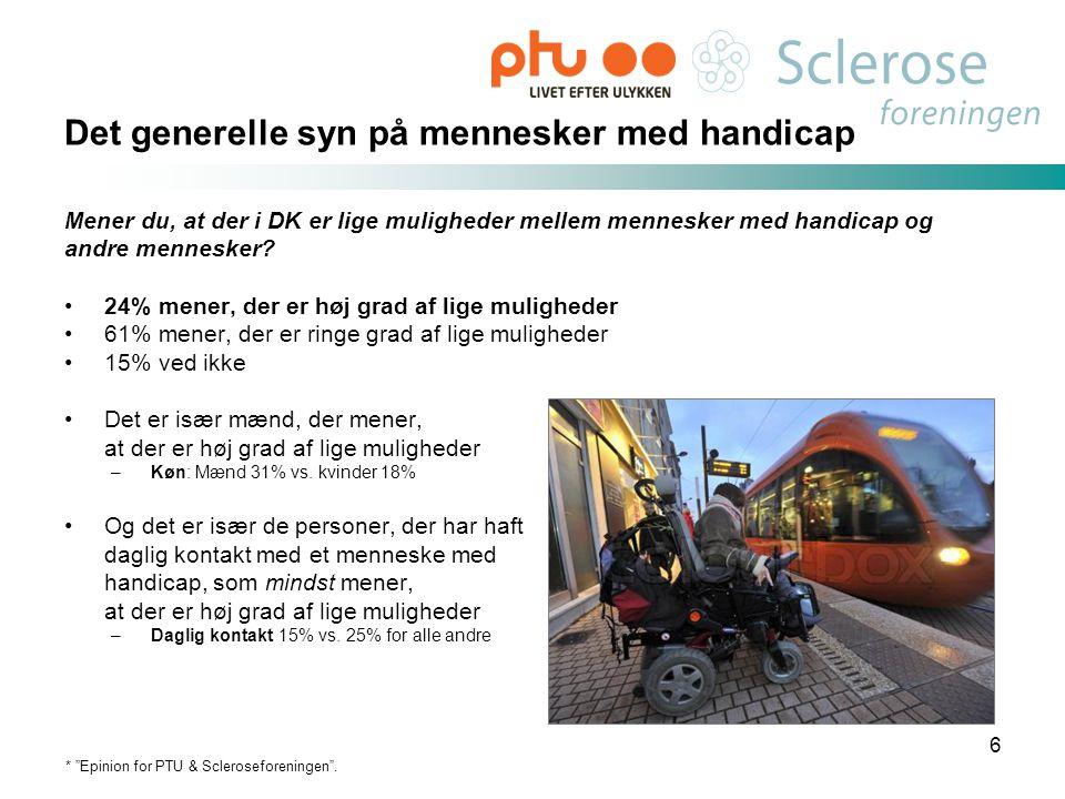 Det generelle syn på mennesker med handicap