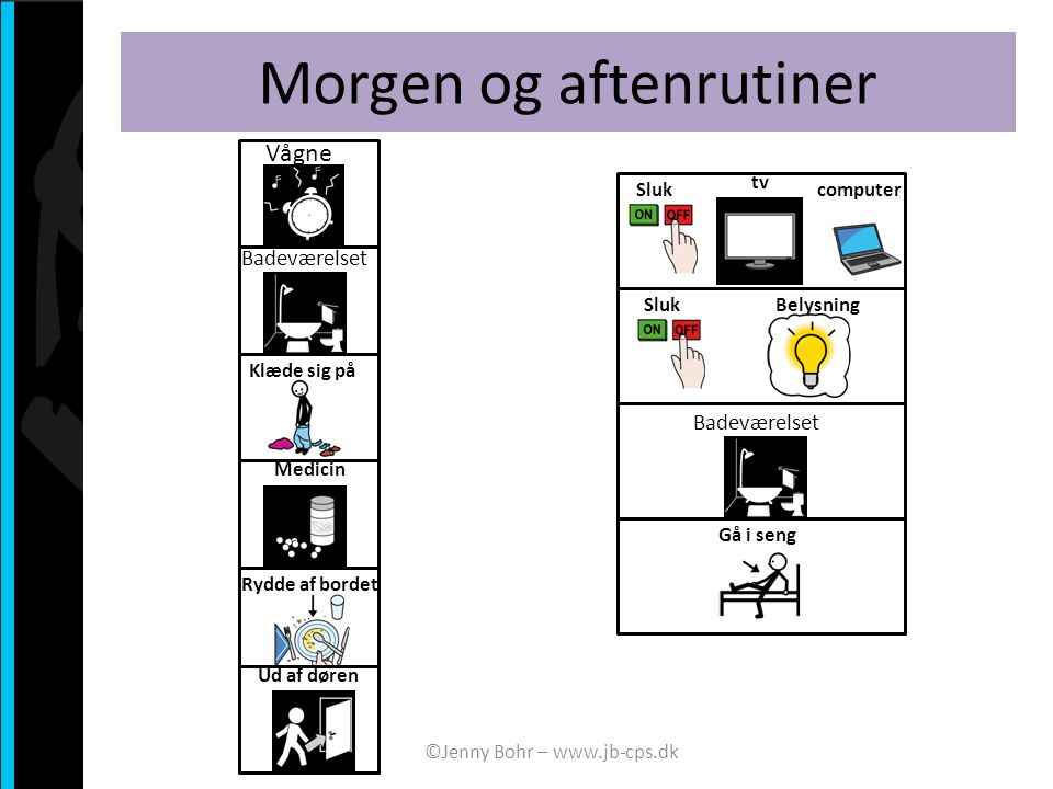 Morgen og aftenrutiner