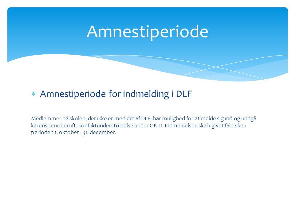 Amnestiperiode Amnestiperiode for indmelding i DLF