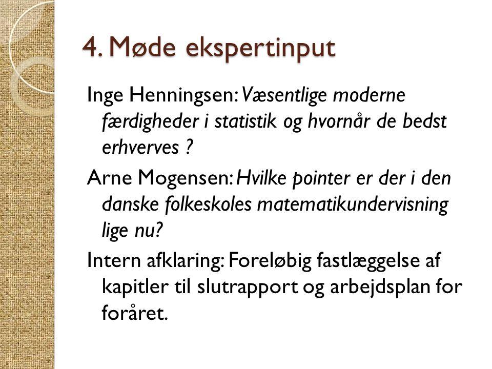 4. Møde ekspertinput