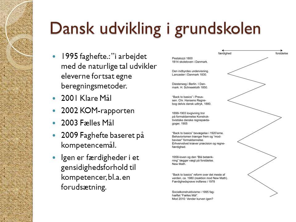 Dansk udvikling i grundskolen