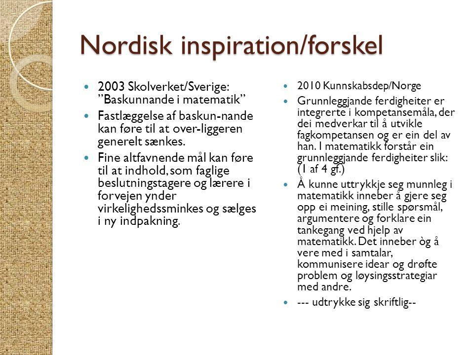 Nordisk inspiration/forskel