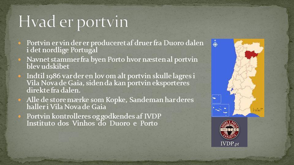 Hvad er portvin Portvin er vin der er produceret af druer fra Duoro dalen i det nordlige Portugal.