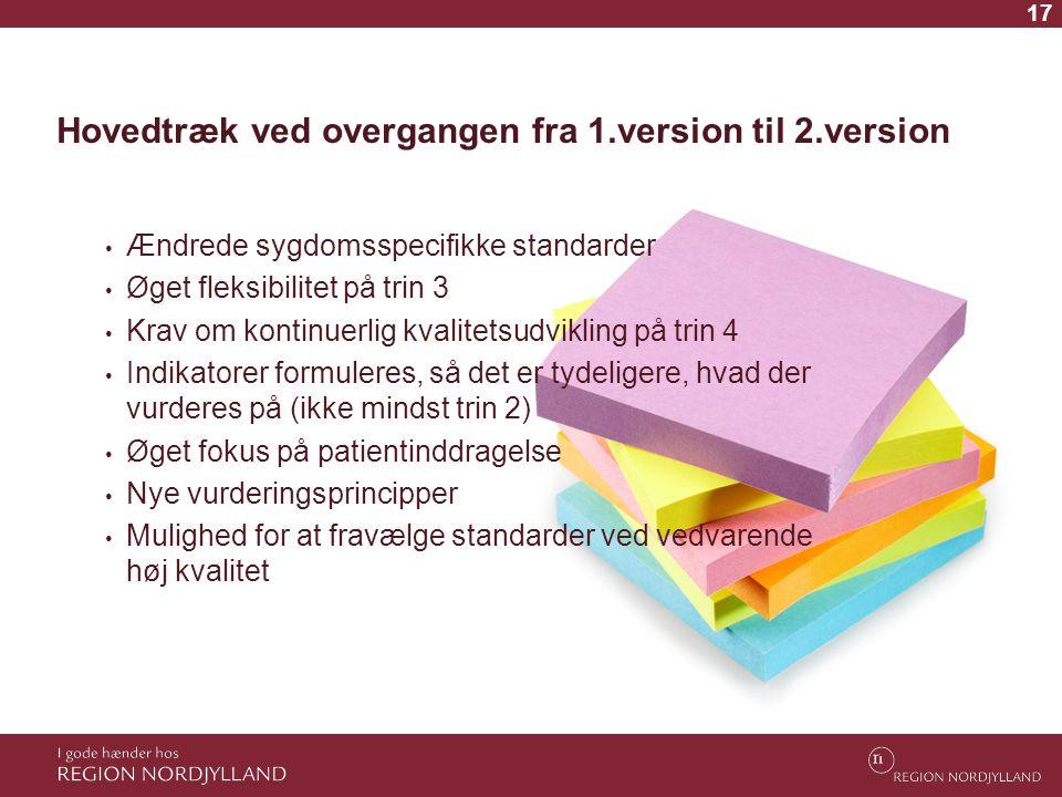 Hovedtræk ved overgangen fra 1.version til 2.version