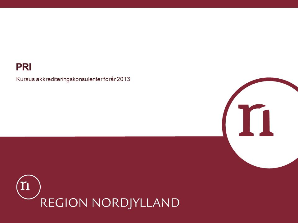 Kursus akkrediteringskonsulenter forår 2013