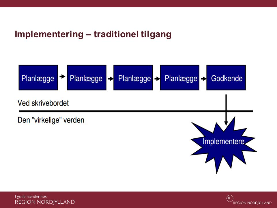 Implementering – traditionel tilgang