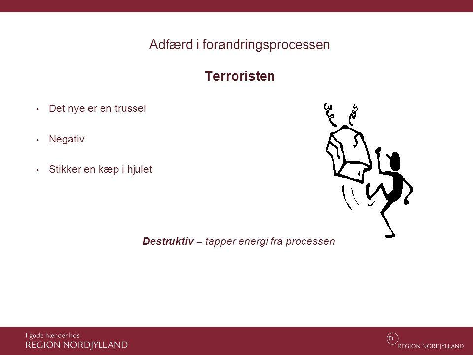 Adfærd i forandringsprocessen Terroristen
