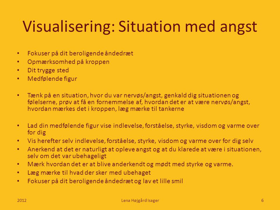 Visualisering: Situation med angst