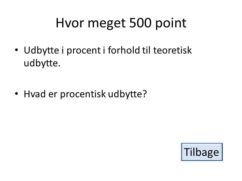 Hvor meget 500 point Tilbage