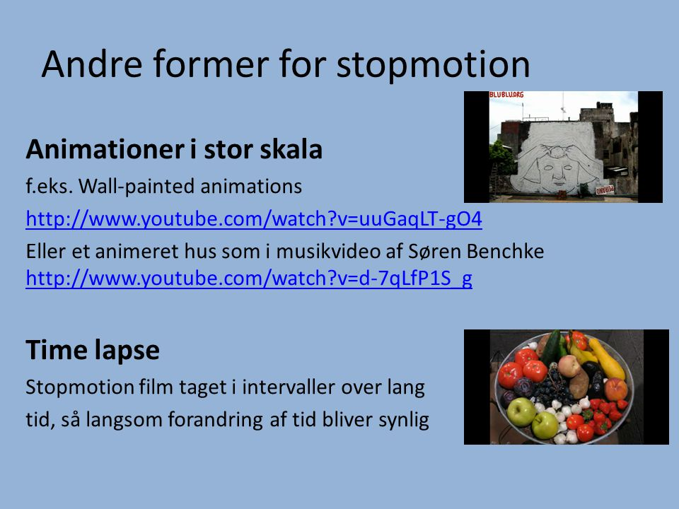 Andre former for stopmotion