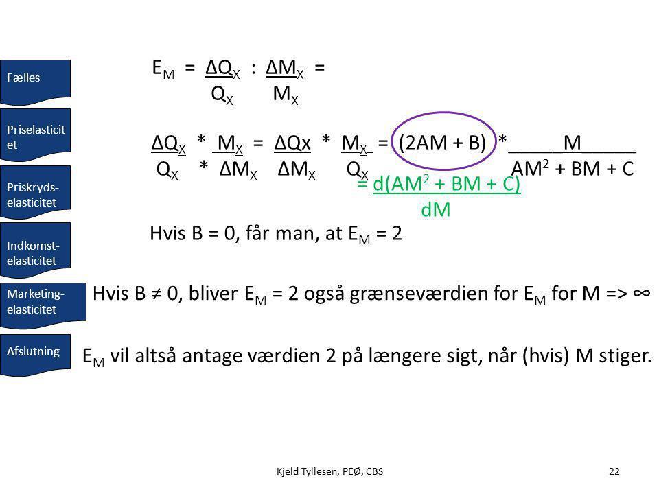 ΔQX * MX = ΔQx * MX = (2AM + B) *_____M_____