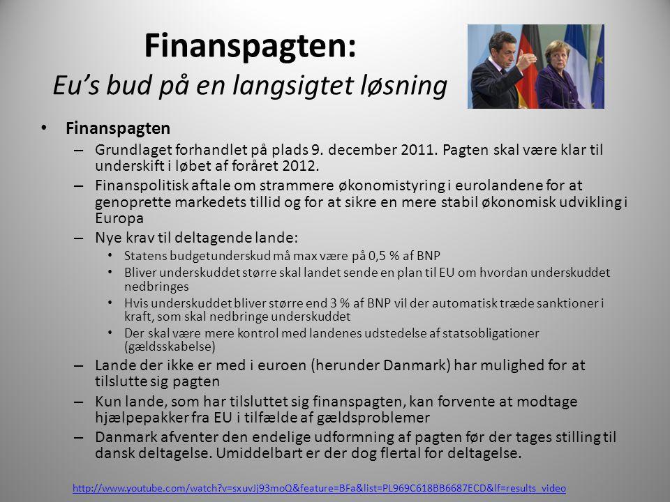 Finanspagten: Eu's bud på en langsigtet løsning