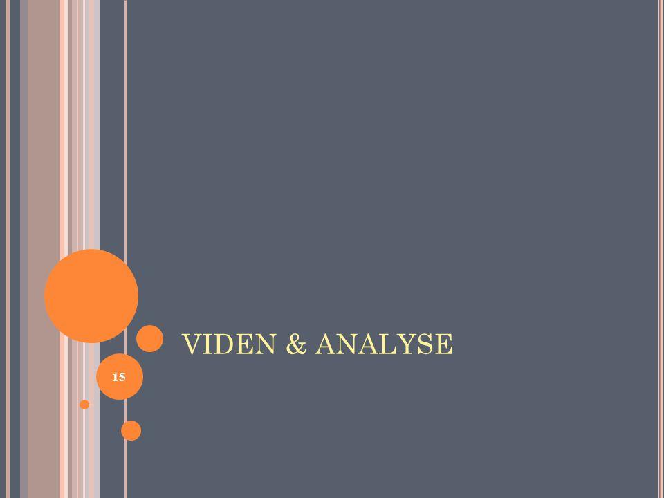 VIDEN & ANALYSE