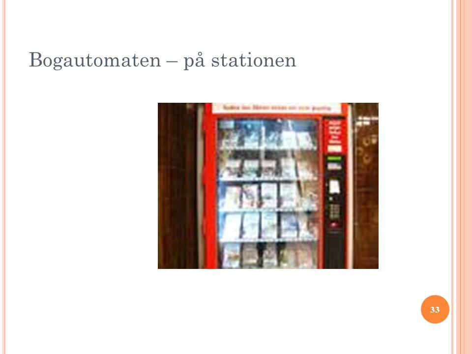 Bogautomaten – på stationen