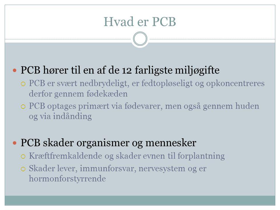 Hvad er PCB PCB hører til en af de 12 farligste miljøgifte