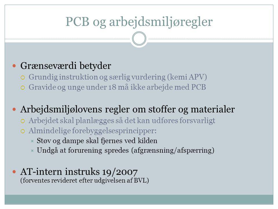PCB og arbejdsmiljøregler