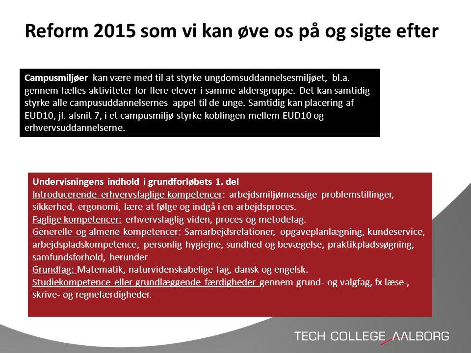 Reform 2015 som vi kan øve os på og sigte efter