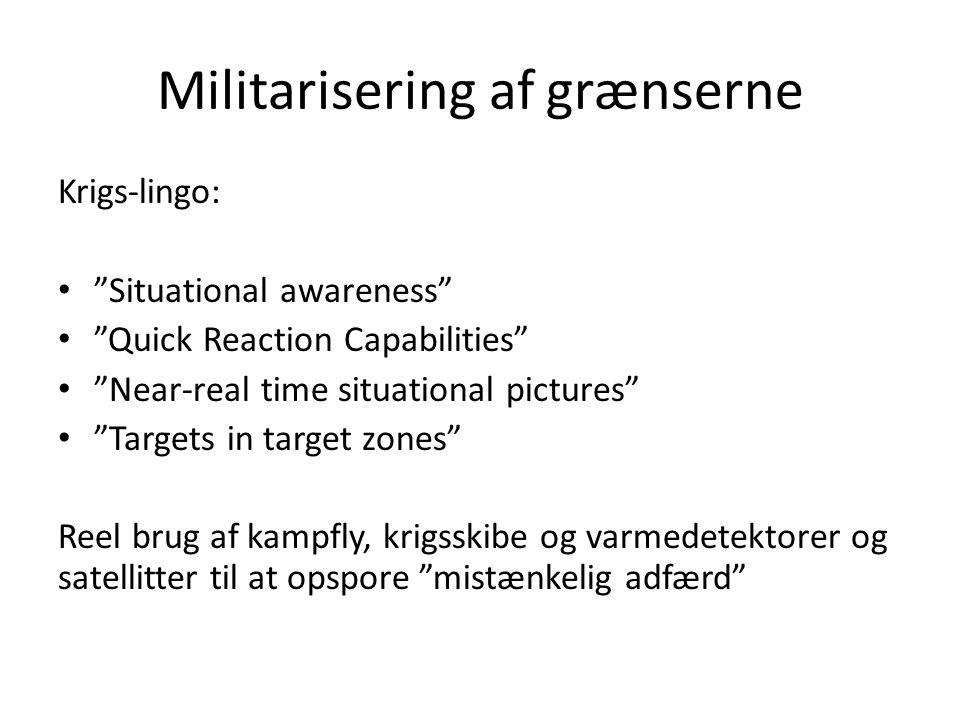Militarisering af grænserne