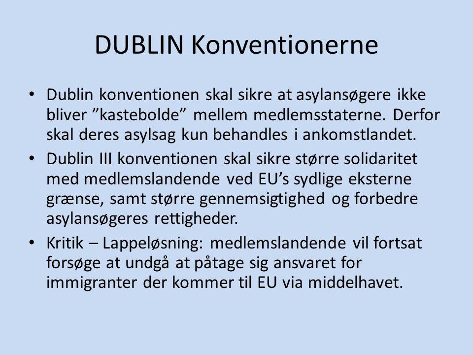 DUBLIN Konventionerne