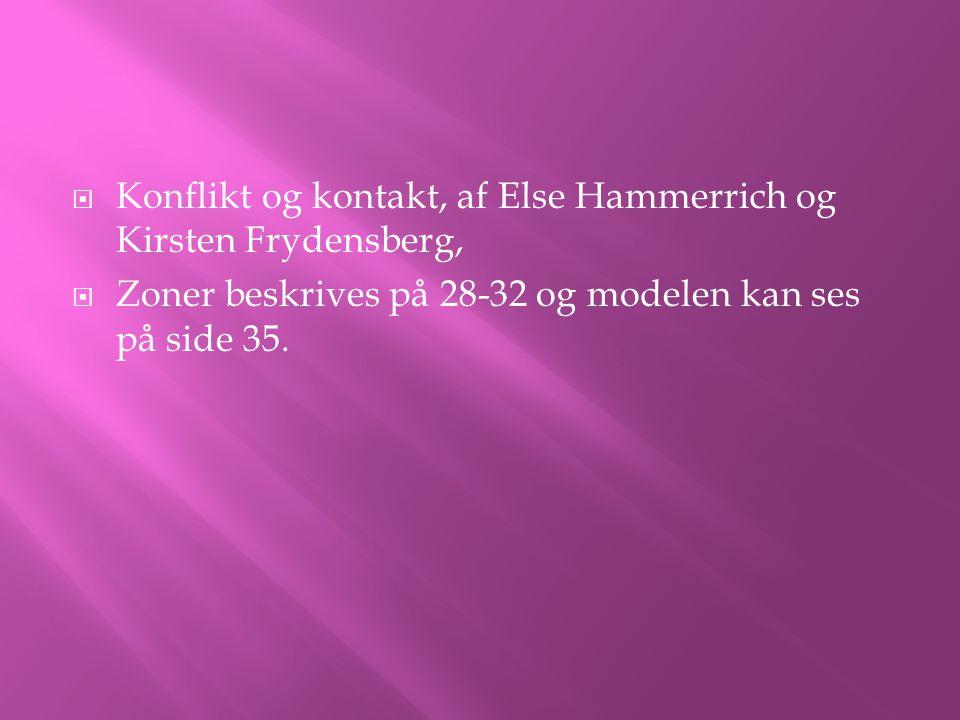 Konflikt og kontakt, af Else Hammerrich og Kirsten Frydensberg,