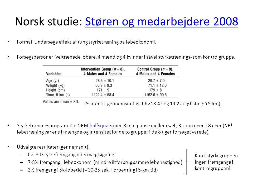 Norsk studie: Støren og medarbejdere 2008