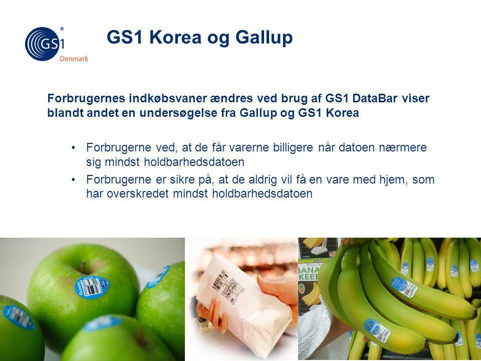 GS1 Korea og Gallup Forbrugernes indkøbsvaner ændres ved brug af GS1 DataBar viser blandt andet en undersøgelse fra Gallup og GS1 Korea.