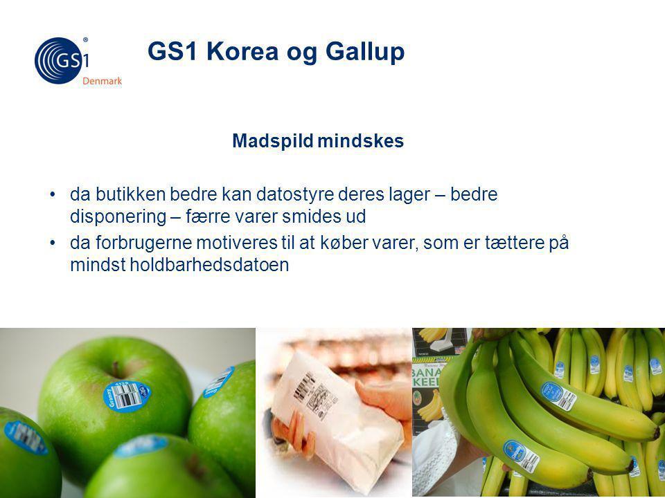 GS1 Korea og Gallup Madspild mindskes