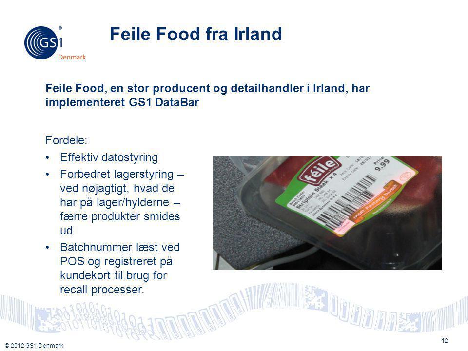 Feile Food fra Irland Feile Food, en stor producent og detailhandler i Irland, har implementeret GS1 DataBar.