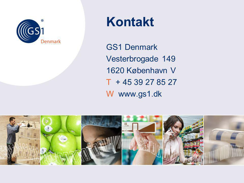 Kontakt GS1 Denmark Vesterbrogade 149 1620 København V