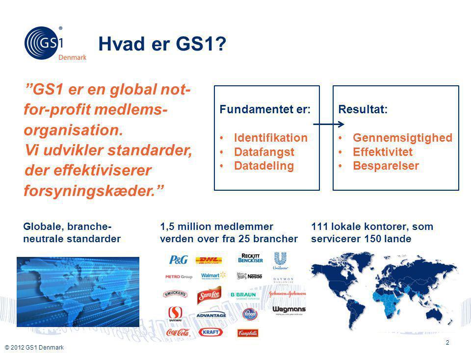 Hvad er GS1 GS1 er en global not-for-profit medlems-organisation.