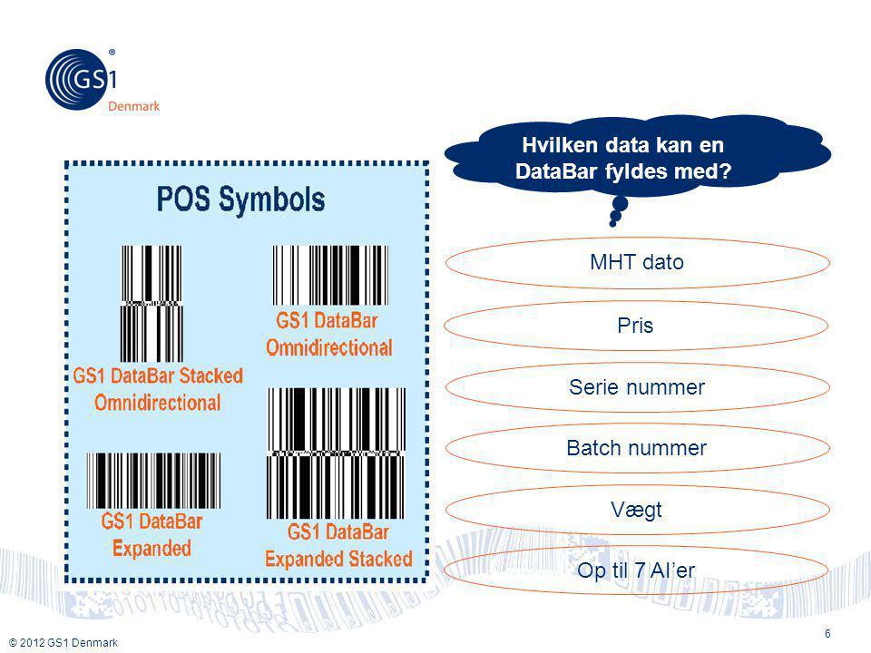 Hvilken data kan en DataBar fyldes med