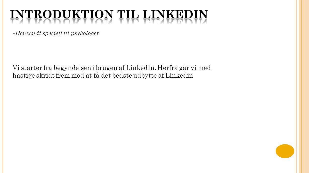 Introduktion til linkedin