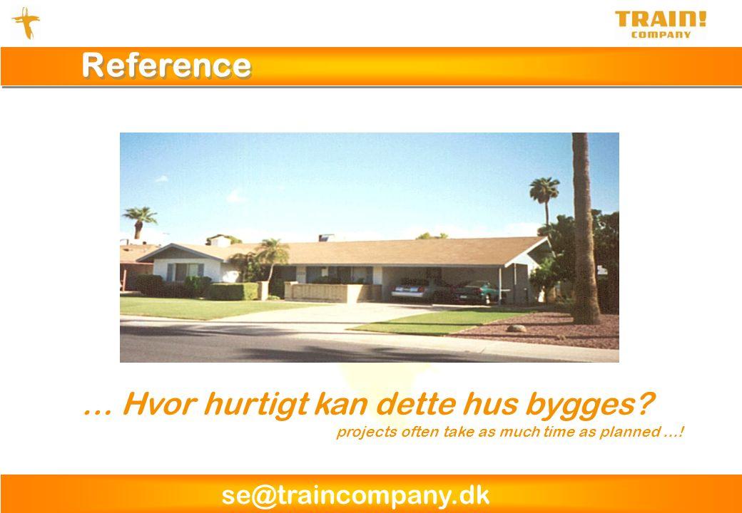Reference … Hvor hurtigt kan dette hus bygges