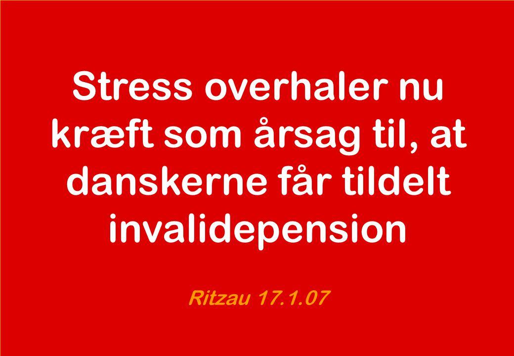 Stress overhaler nu kræft som årsag til, at danskerne får tildelt invalidepension