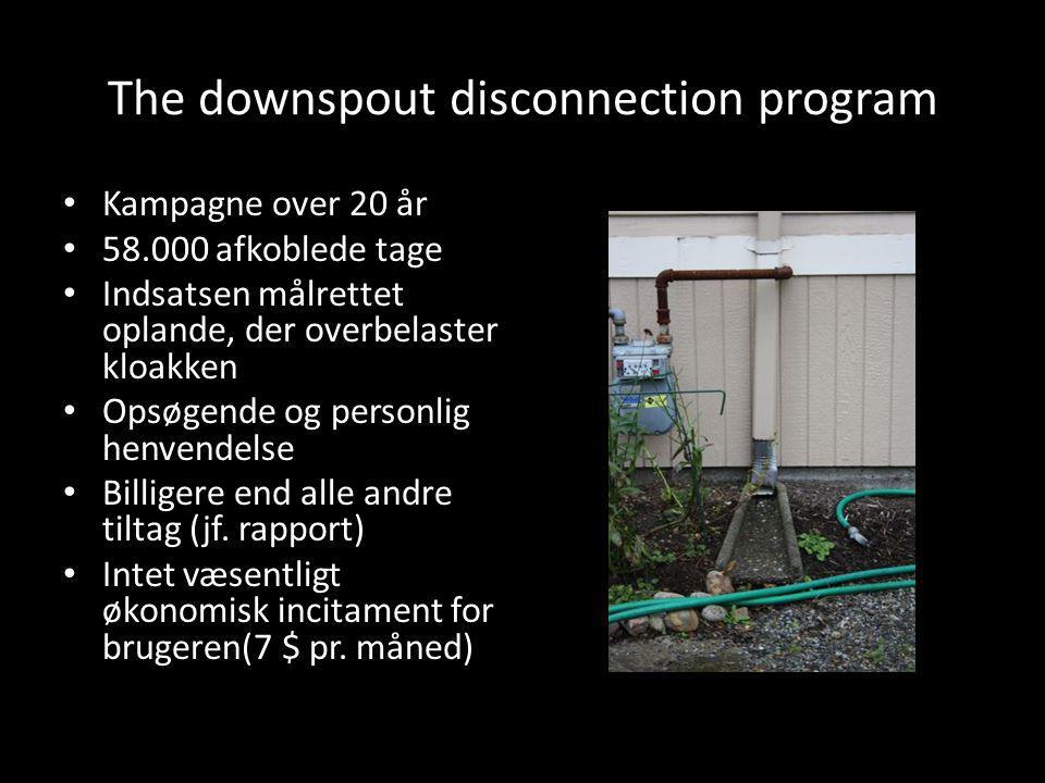 The downspout disconnection program