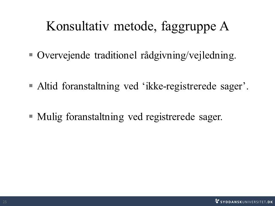 Konsultativ metode, faggruppe A