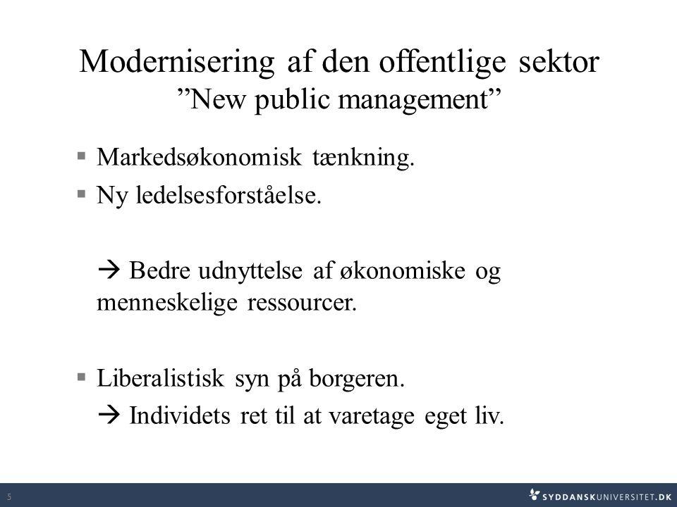 Modernisering af den offentlige sektor New public management