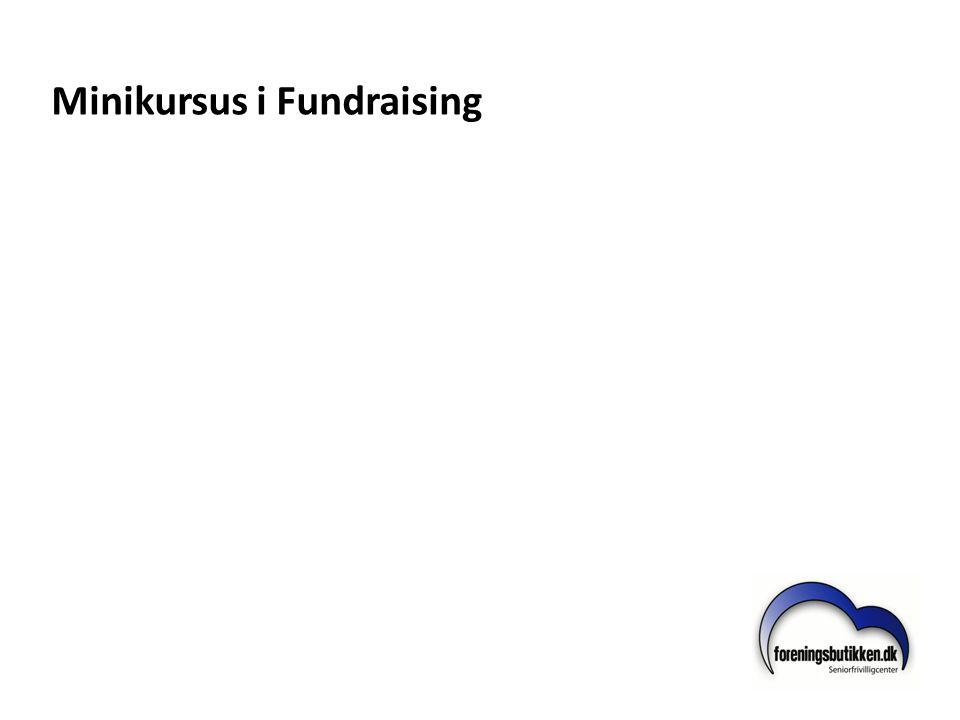 Minikursus i Fundraising