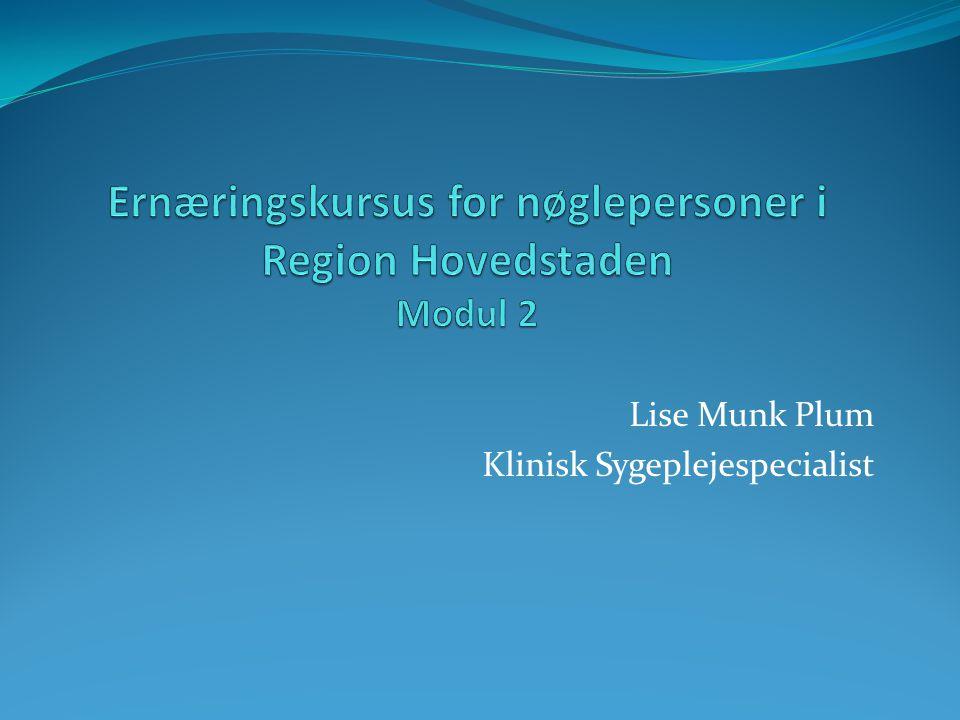 Ernæringskursus for nøglepersoner i Region Hovedstaden Modul 2