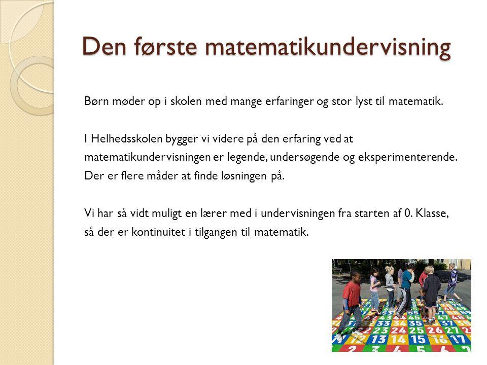 Den første matematikundervisning
