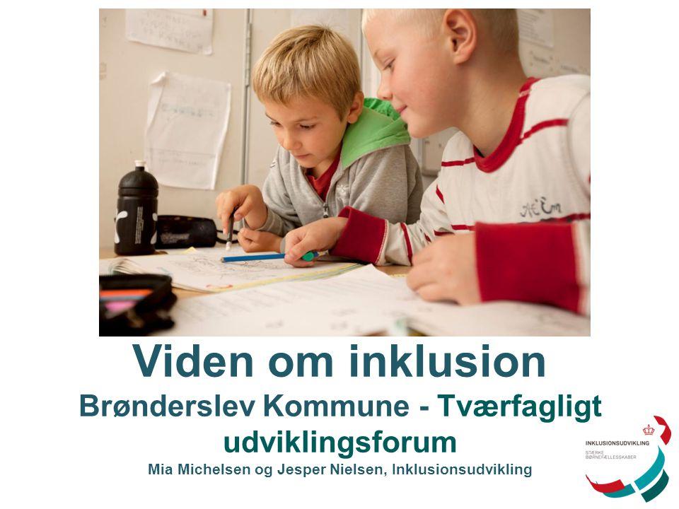 Viden om inklusion Brønderslev Kommune - Tværfagligt udviklingsforum