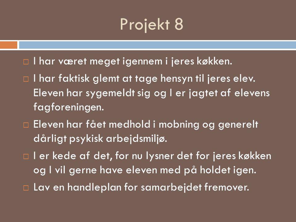Projekt 8 I har været meget igennem i jeres køkken.
