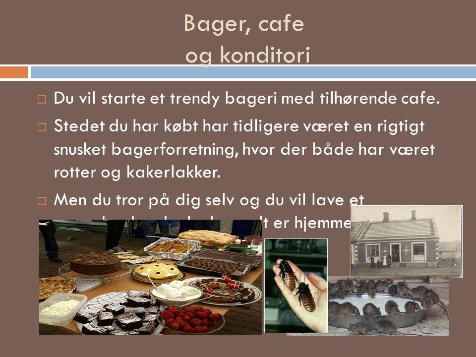 Bager, cafe og konditori