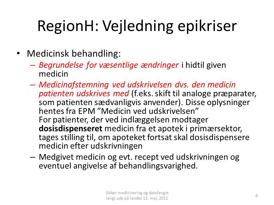 RegionH: Vejledning epikriser