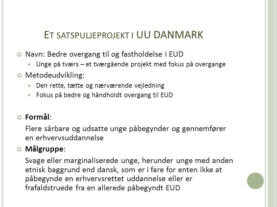 Et satspuljeprojekt i UU DANMARK